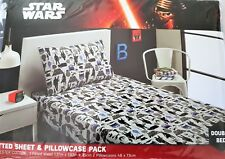 NEW Licensed DISNEY STAR WARS Double Bed FITTED SHEET SET - THE FORCE AWAKENS