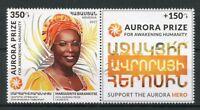 Armenia 2017 MNH Marguerite Barankitse Aurora Prize Laureate 1v + Label Stamps