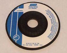 Norton 4 1/2 x 1/8 x 7/8 Mount Mini Disc Zirconia Alumina Grinding Wheel Type 27