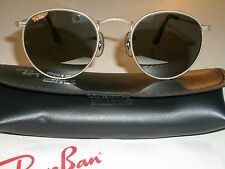 46mm SMALL SIZE B&L RAY BAN W2465 G31 MIRROR ROUND SILVER AVIATOR SUNGLASSES **