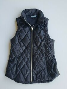 Womens Athleta Black Quilted Puffer Vest Size Small