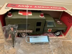 Nylint Model No. 4134 Army Ambulance new in the box from 1976 Nylint Archives.