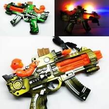 Toy Gun Light Up Machine Gun Military Toy Kids Moving Barrel LED gun Battle Toy