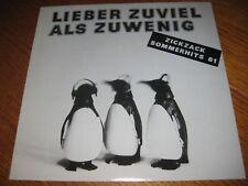 V.A.-Lieber zuviel als zuwenig LP,ZICKZACK Germany 1981, +Zeitung, Vinyl mint!!
