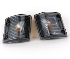 VW TRANSPORTER T3 79-90 FRONT INDICATOR REPEATER LIGHTS SET PAIR LH+RH - SMOKED