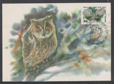 Sowjetunion 1990 Maximumkarte  Mi Nr:  6065  Ausgabe Eulen Waldohreule
