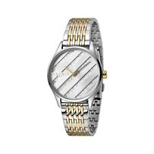 ESPRIT Ladies Watch Watches E.ASY Silver and Gold MB Analogue Quartz RRP £139