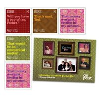 Father Ted 25 Anniversary Collectors 5 Stamp Booklet – UK Seller – FREE POST