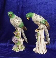 Par De 19th Century Samson & Co modelos de porcelana de loros