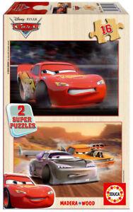 Educa Disney Cars 2 x 16 pcs wood jigsaw puzzle 14505 new sealed