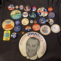 Lot of Vintage Pin Back Buttons Campaigns Groups Politics