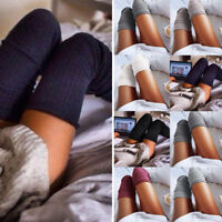 Women Soft Winter Cable Knit Over knee Long Boot Warm Thigh High Socks Fashion