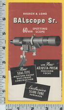 C015 Bausch & Lomb photograph spotting scope flier Funson Shop Grand Rapids, MI