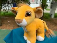 "Vintage 1993 Mattel Disney The Lion King Simba 8"" Plush Stuffed Animal Toy"