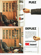 PUBLICITE ADVERTISING 016  1985  KAZED  portes pliantes