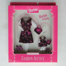 Fashion Avenue Barbie And Kelly Matchin' Styles 18111 Purple Jumper Purse Shoes