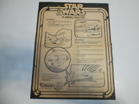 Star Wars Vintage Kenner 1979 X-Wing Fighter Spaceship Playset Instructions