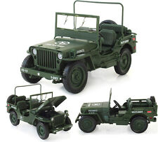 WWII military jeep Willis tactics 1:18 Alloy Diecast Model Cars Collections New