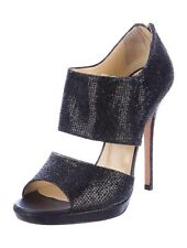 JIMMY CHOO Private Glitter Pump Stiletto Heels 39.5 Black $950