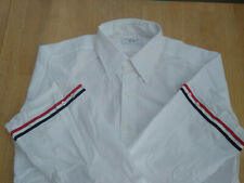 NWOT Thom Browne White w Red White Blue Grosgrain Sleeves TB4 16.5-35 MSRP$450
