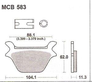 Bremsbeläge Lucas MCB 583