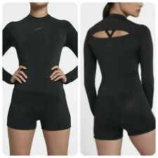 NWT Nike Power Running Bodysuit Run Division AJ6540 010 Black womens Size medium