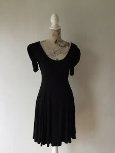 FOREVER NEW - Women's Black Dress - Size 10 - Cut Out Bow Back - Flowing Skirt
