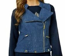 Randolph Duke Motorcycle Style Side Zippered Vest $44.90 BLUE 1X New with Tags