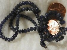Blue Sapphire Loose Beads String 76.25 Carats 1.90 to 6.09 MM. Round 16 Inches