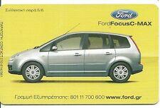 RARE / CARTE TELEPHONIQUE - FORD : FOCUS AUTO AUTOMOBILE VOITURE CAR / PHONECARD