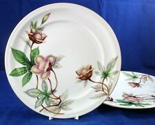 Meito WOODROSE 2 Dinner Plates GREAT CONDITION