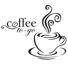 Coffee To Go Station Cafe Kitchen Vinyl Decal/Sticker Walls Windows Oracal