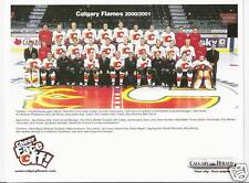 2000-01 CALGARY FLAMES TEAM PHOTO / CHEER CARD HERALD