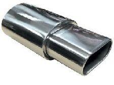 Universal stainless steel car exhaust box muffler OVAL tail backbox silencer
