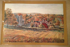 """AUTHENTIC ARTAGRAPH OIL PAINTING""""OCTOBER MORNING""""BY M.KEIRSTEAD, SIGNED249/1000"""