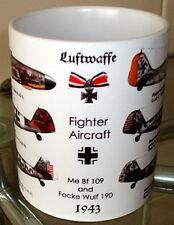 German Fighters of the Luftwaffe ~Me 109~ and ~Focke Wulf~ ~1943~  MUG NEW