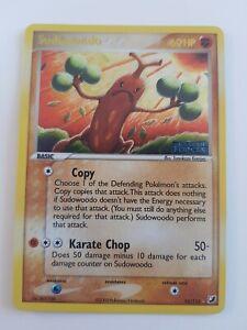 Sudowoodo (GOLD) Ex Unseen Forces Pokemon Holo Card TCG