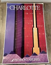 """Piedmont Airlines Charlotte Poster 24"""" x 36"""""""