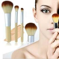 Eco Tools BAMBOO Makeup Brush Set 4 Pcs Make Up Brushes Tools Eyebrow Brushes FZ