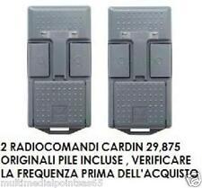 2 x RADIOCOMANDO TELECOMANDO APRICANCELLO CARDIN MOD. S466-TX2 29.875 MHZ