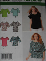 Knit Tops Pullover Misses size XXS-XXL Simplicity 1805 Sewing Pattern