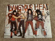 "QUIET RIOT BANG YOUR HEAD Poster 17""x22"" Used Vintage"