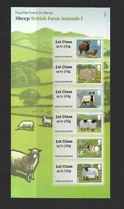 GB 2012 Post & Go British Farm Animals I - Sheep presentation pack P&G6 MNH
