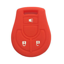 Red Silicone Key Jacket Key Fob Case Cover 3 Button for Nissan Cube Rogue Juke