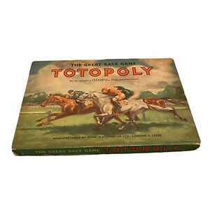Vintage Totopoly Board Game Excellent Condition John Waddington 1949 MINT Con