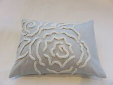 Barbara Barry Forties Raised floral Chenille decorative pillow NWT