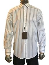 New Authentic Louis Vuitton Men's Clothing Blue Stripe Shirt 15 3/4 M - L #A340