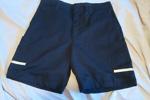 FedEx Stan Herman Employee Uniform Reflective Cargo Shorts Blue Size Varies Read