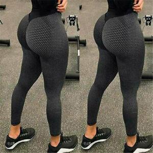 Damen Leggings Push Up Yoga Sporthose Fitness Leggins Hosen Kompression Laufhose