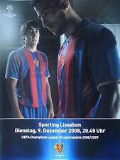 Programm UEFA CL 2008/09 FC Basel - Sporting Lissabon
